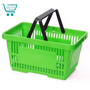 Покупательские корзины для супермаркета PLAST 22 Green grass