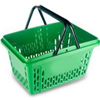 покупательская корзина-зеленая