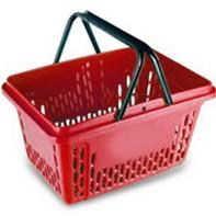 покупательская корзина-красная