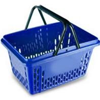 покупательская корзина синяя