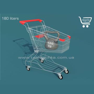Покупательская тележка на 180 литров, размеры покупательской тележки