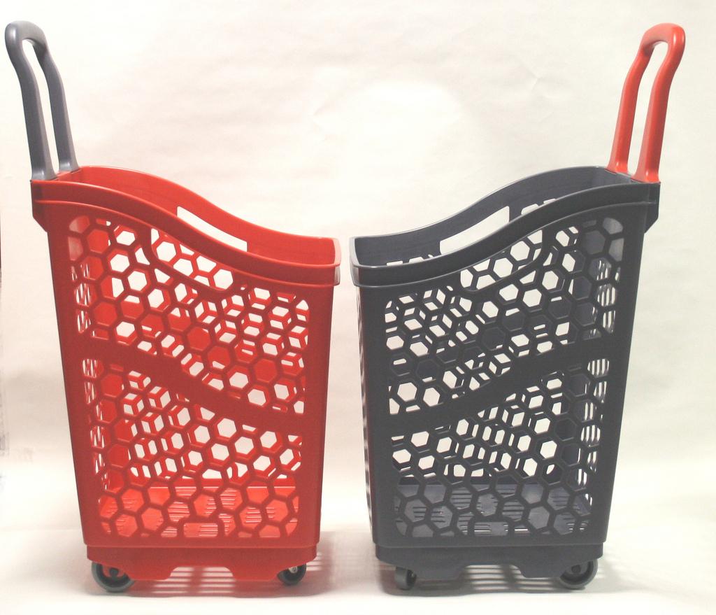 Пластиковая покупательская тележка-корзина - B65 Smooth Basket