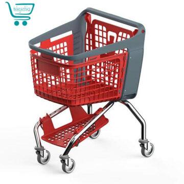 Купить пластиковую покупательскую тележку - BRAVO
