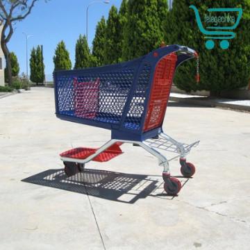 Пластиковая покупательская тележка c железной основой - H220 Hybrid POLYCART