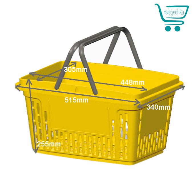 Покупательские корзины для супермаркета PLAST 28