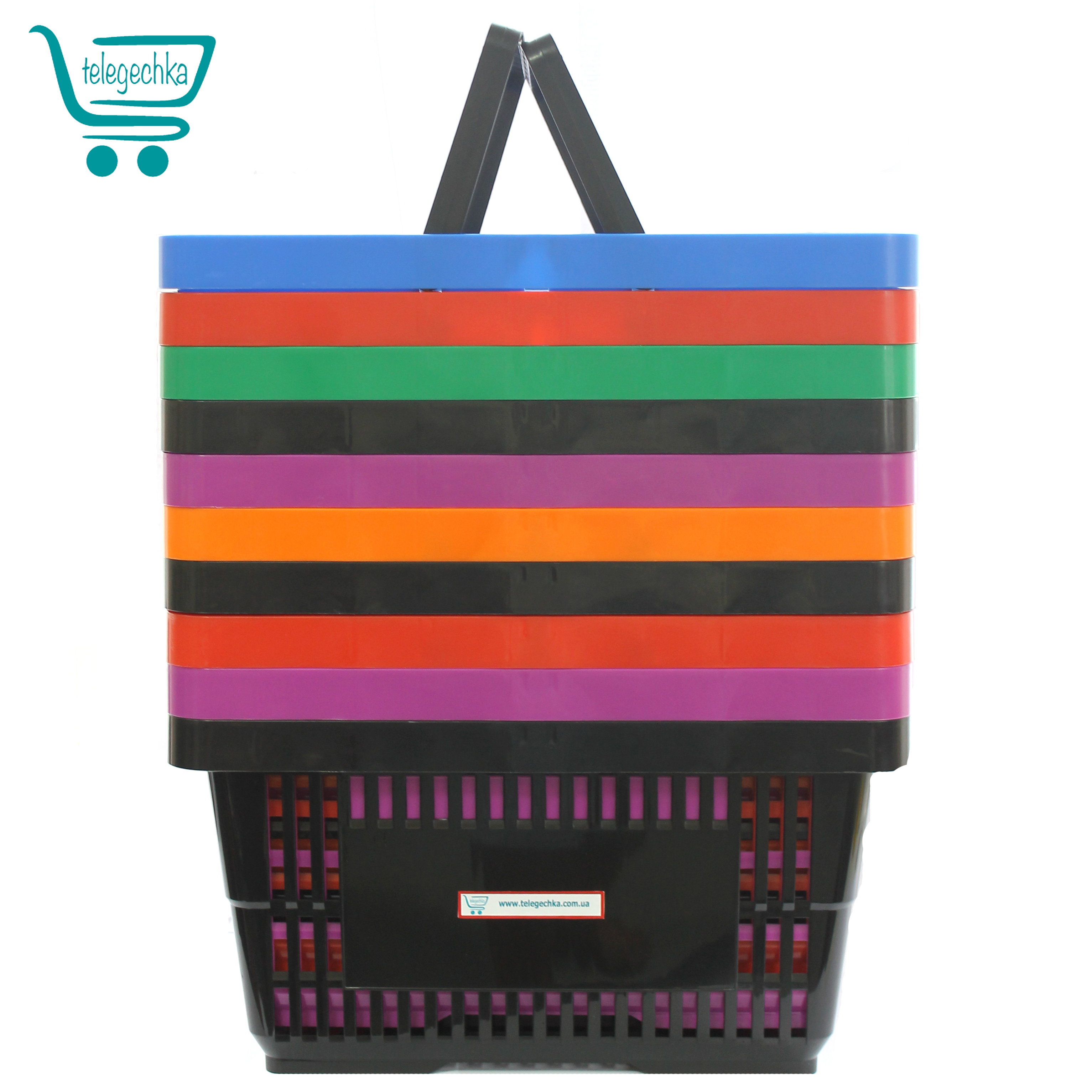 корзинка для магазина, корзины для магазина черная