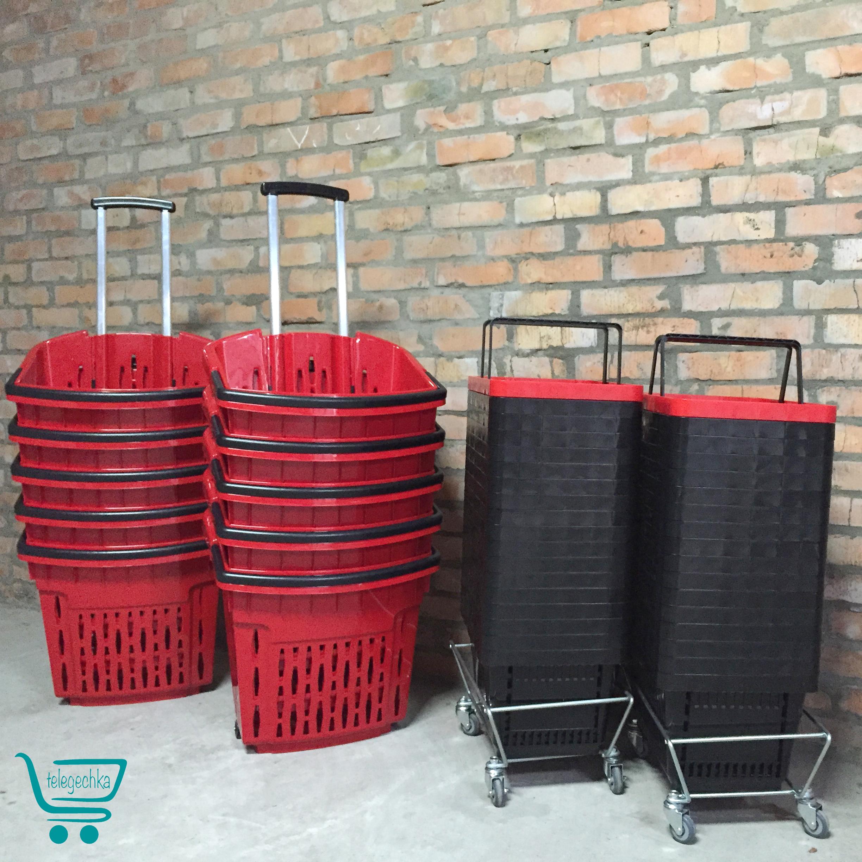 Подставка для корзин на колесах Р2