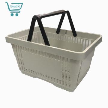 Покупательские корзины для супермаркета PLAST 22 (светло серый)