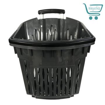 Покупательские корзины для супермаркета с колесами PLAST 38 Grafit