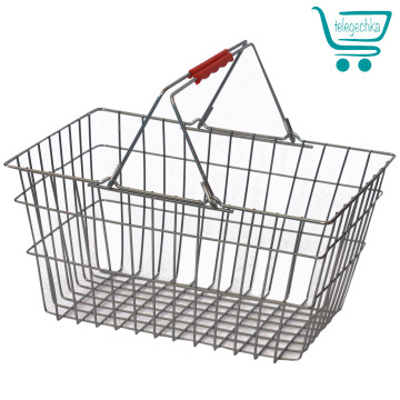 корзинка для магазина, корзины для магазина, покупательская корзинка, металлическая корзина
