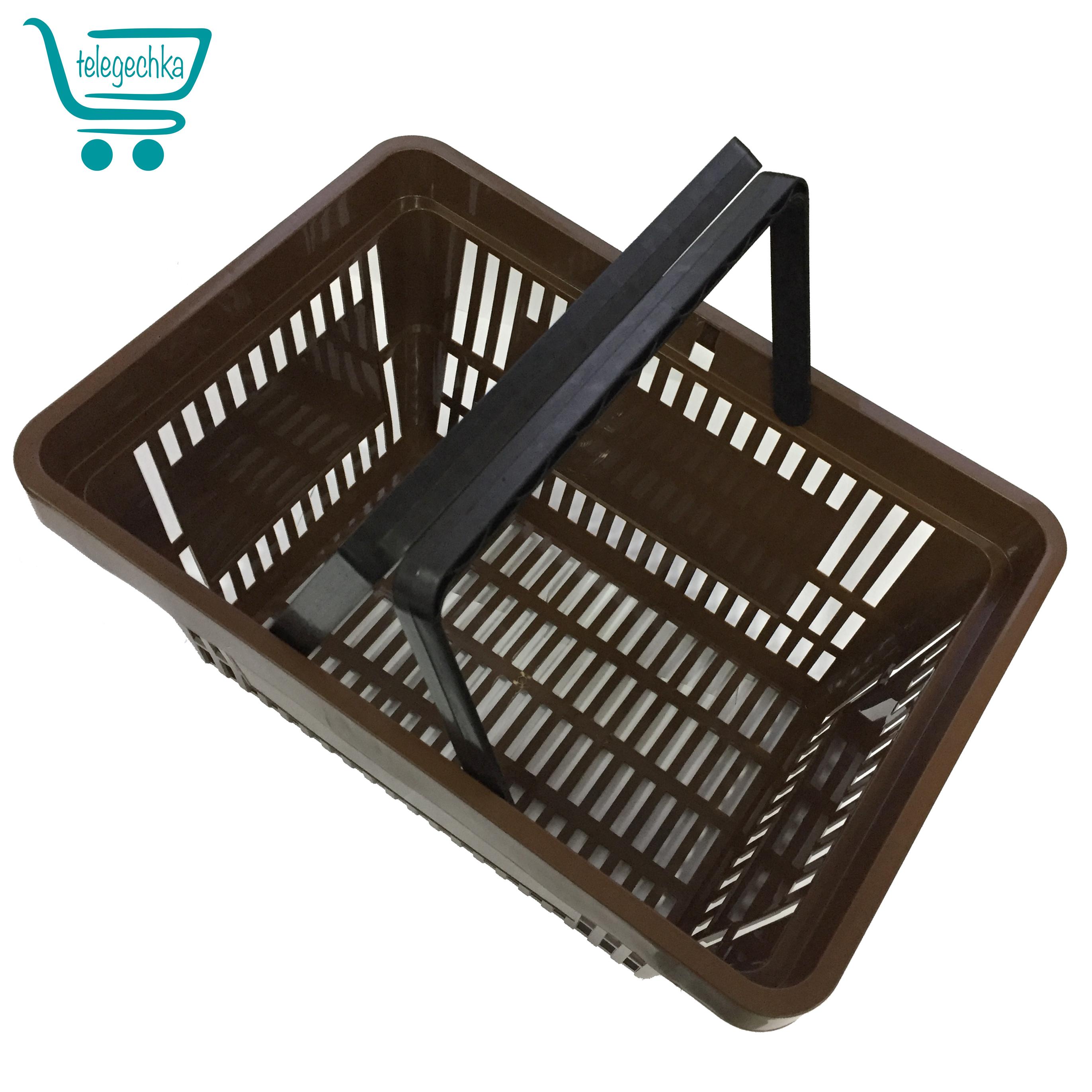 Покупательские корзины для супермаркета Plast 22 Brown Roshe