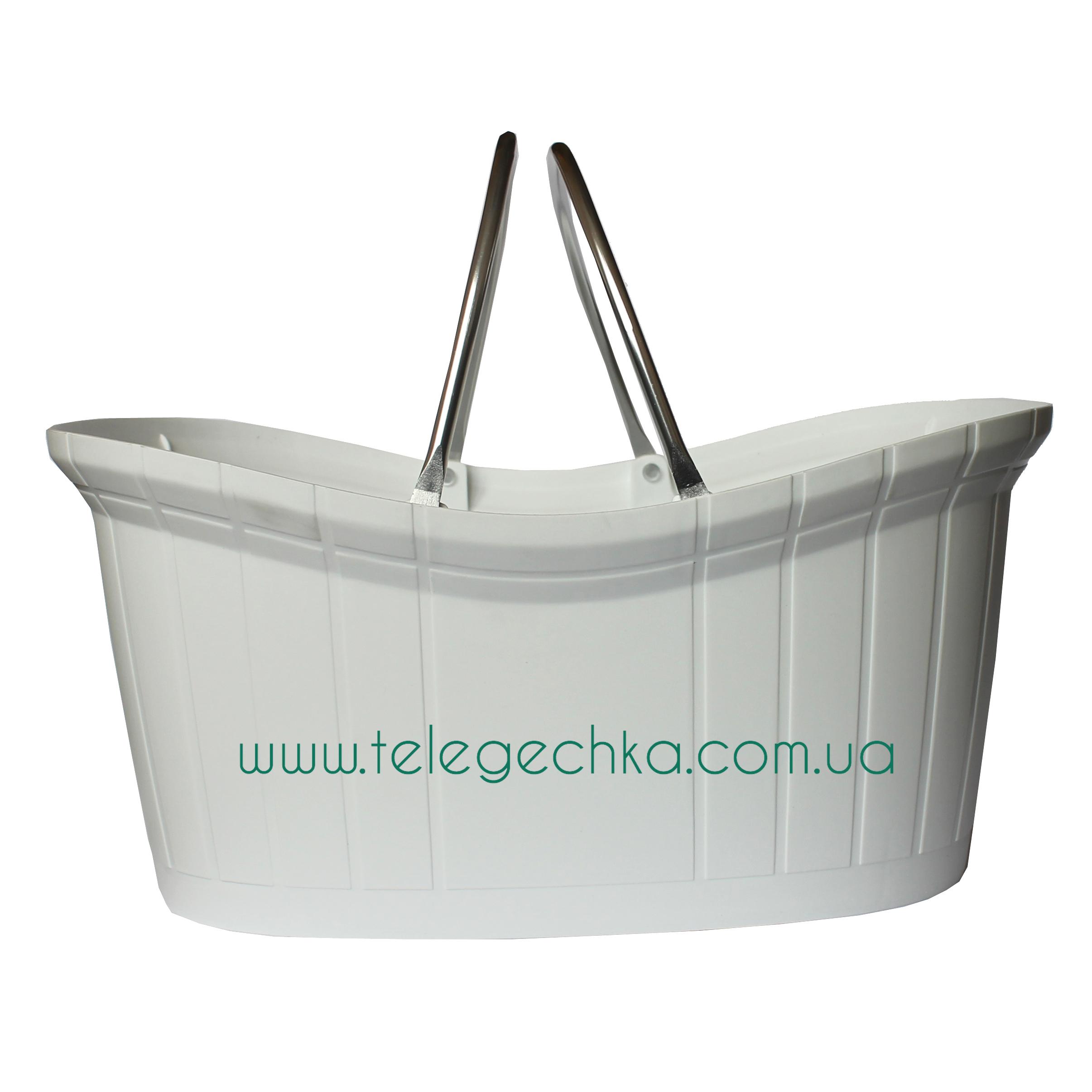 Элегантная пластиковая корзина с ручками PLAST 12 PERFUMERY