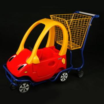 Тележка для супермаркета с машинкой на 45 литров KID