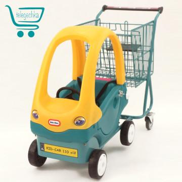 Покупательская тележка для супермаркета с детской машинкой KID-CAR 110 S