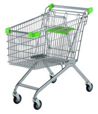 покупательская тележка зеленая