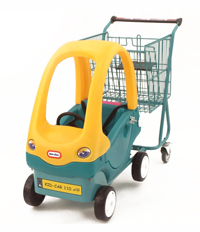 ележки для супермаркетов и магазинов с машинкой детская