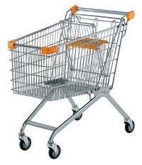 покупательская тележка оранжевая