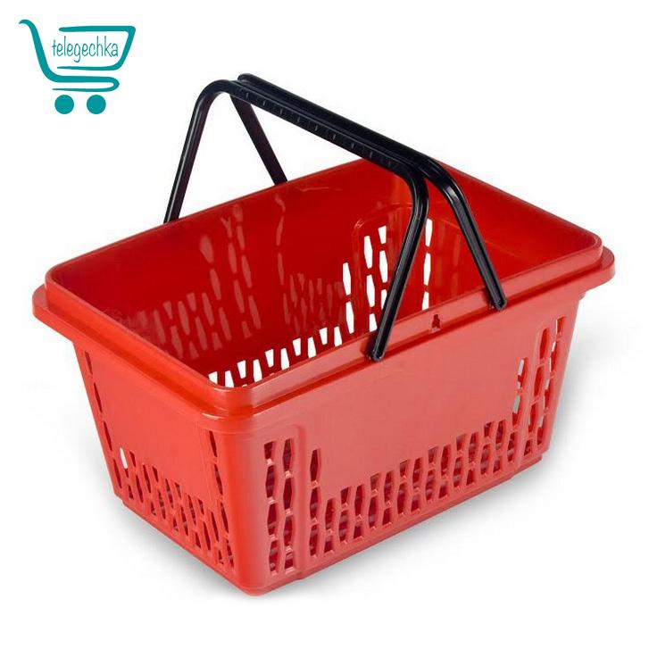 Покупательская корзинка для супермаркета plast 28