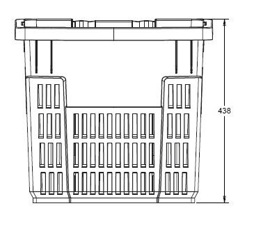 Покупательская корзина для супермаркета PLAST 50