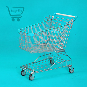 Покупательские тележки для супермаркета на 150 литров М, размеры покупательских тележек, телег