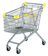 Покупательская тележка желтого цвета купить